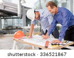 skillful two engineers are... | Shutterstock . vector #336521867