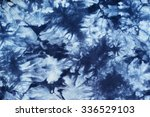 Indigo Tie Dyed Pattern On...