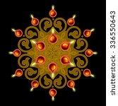 decorative diwali lamps design | Shutterstock .eps vector #336550643