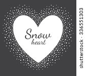 Heart Shape Snow Frame With...
