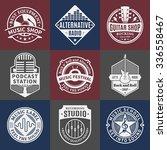 set of vector music logo. music ... | Shutterstock .eps vector #336558467
