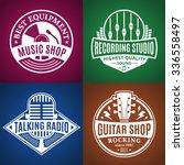 set of vector music logo. music ... | Shutterstock .eps vector #336558497