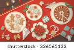 Christmas Table Banner  Dishes...