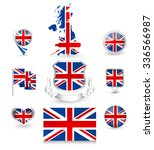 uk flag collection. vector icon ... | Shutterstock .eps vector #336566987