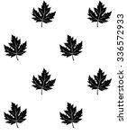silhouette of the maple leaf.... | Shutterstock .eps vector #336572933