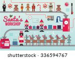 santa claus workshop vector...