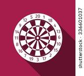 classic darts board with twenty ... | Shutterstock . vector #336601037