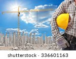 worker working at building... | Shutterstock . vector #336601163