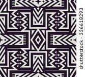 vector seamless tribal pattern... | Shutterstock .eps vector #336618293