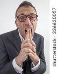 expressive corporate man... | Shutterstock . vector #336620057