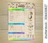 vintage cocktail menu design.... | Shutterstock .eps vector #336633827