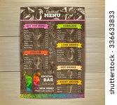 vintage cocktail menu design.... | Shutterstock .eps vector #336633833