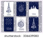 set of christmas  and new year... | Shutterstock .eps vector #336639083