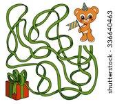 color maze game for children ...   Shutterstock .eps vector #336640463