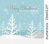 vector christmas greeting card. ... | Shutterstock .eps vector #336642197