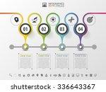 timeline infographics design... | Shutterstock .eps vector #336643367