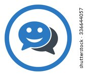 happy chat vector icon. style... | Shutterstock .eps vector #336644057
