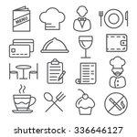restaurant line icons | Shutterstock .eps vector #336646127