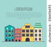 scene with an european city.... | Shutterstock .eps vector #336656693