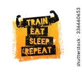 train eat sleep repeat.... | Shutterstock .eps vector #336660653