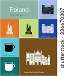landmarks of poland. set of... | Shutterstock .eps vector #336670307