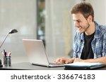 entrepreneur or student man... | Shutterstock . vector #336674183