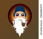 vector biker santa claus with... | Shutterstock .eps vector #336686537