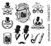 set of vintage gentleman... | Shutterstock .eps vector #336687827