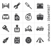 black car parts and services... | Shutterstock .eps vector #336695837