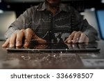 businessman hand working on