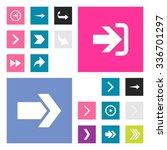 next arrow forward icon set....