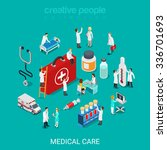 flat 3d isometric medical... | Shutterstock .eps vector #336701693