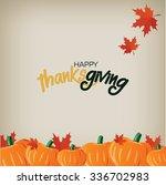 happy thanksgiving card   Shutterstock .eps vector #336702983
