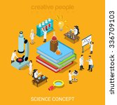 flat 3d isometric style science ... | Shutterstock .eps vector #336709103