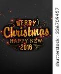 elegant christmas background... | Shutterstock .eps vector #336709457