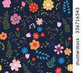 vector illustration of floral... | Shutterstock .eps vector #336716543