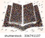 large and diverse group of... | Shutterstock . vector #336741137