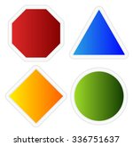 empty signs. octagon  triangle  ... | Shutterstock .eps vector #336751637