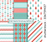 set of seamless christmas... | Shutterstock .eps vector #336759437
