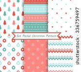 set of seamless christmas... | Shutterstock .eps vector #336759497