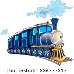 blue cartoon train