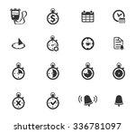 clocks simply symbols for web... | Shutterstock .eps vector #336781097