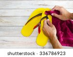 cleaning shoes | Shutterstock . vector #336786923
