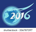 planet earth  blue globe  year...   Shutterstock .eps vector #336787397