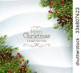 christmas greeting card with... | Shutterstock .eps vector #336807623