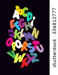 bright abstract comic font... | Shutterstock . vector #336812777