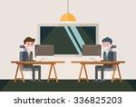 modern design flat character... | Shutterstock .eps vector #336825203