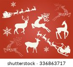 christmas decoration elements | Shutterstock .eps vector #336863717