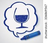 doodle wine | Shutterstock .eps vector #336869567