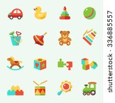 Toy Icons  Flat Design